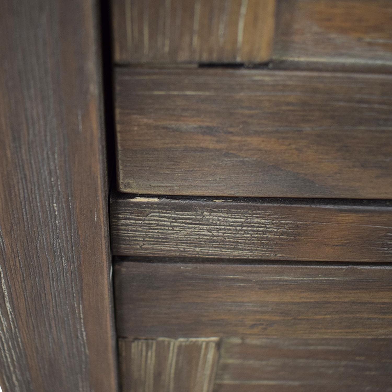 World Market World Market Grey Wood Four-Drawer Dresser price