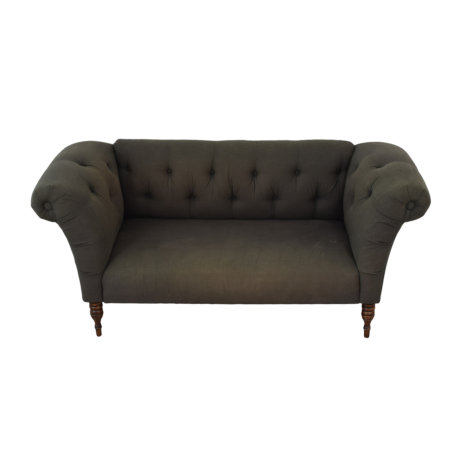 Urban Outfitters Grey Tufted Sofa sale