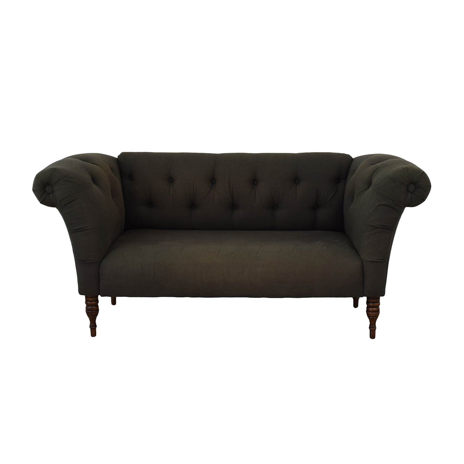 Urban Outfitters Grey Tufted Sofa Urban Outfitters
