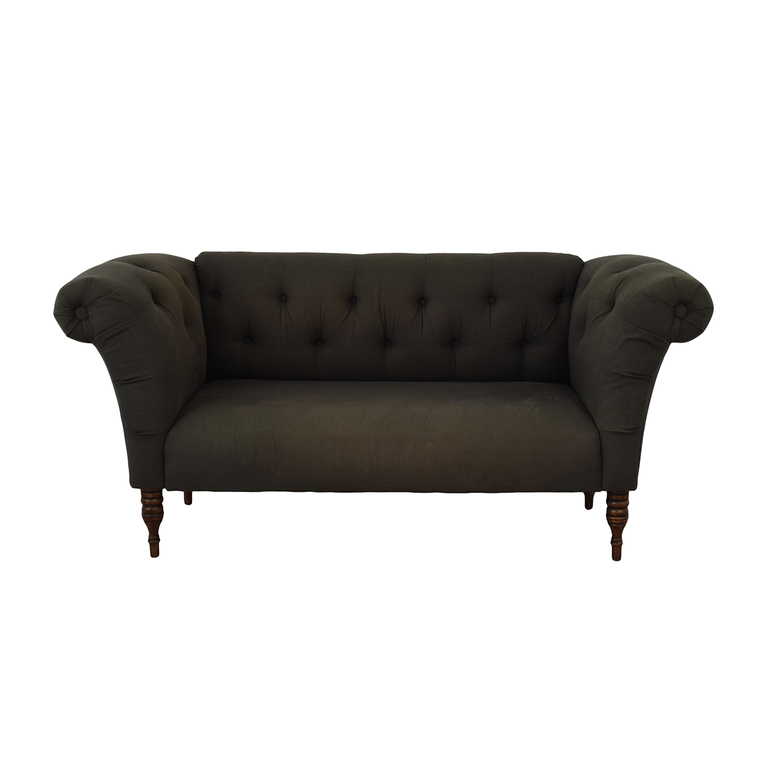 Urban Outfitters Urban Outfitters Grey Tufted Sofa dimensions