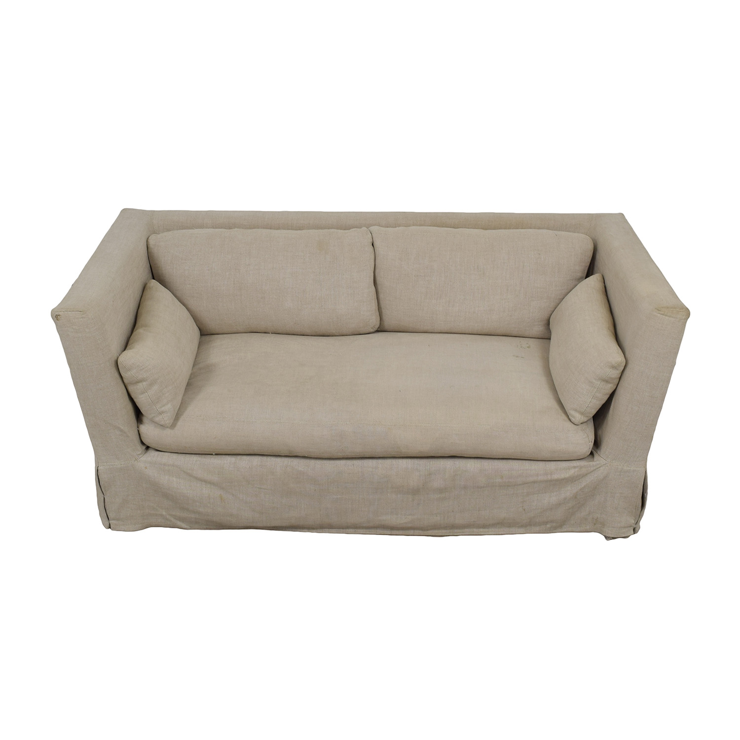 shop Restoration Hardware Grey Single Cushion Slipcover Sofa Restoration Hardware Sofas