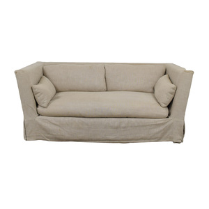 Restoration Hardware Restoration Hardware Grey Single Cushion Slipcover Sofa used