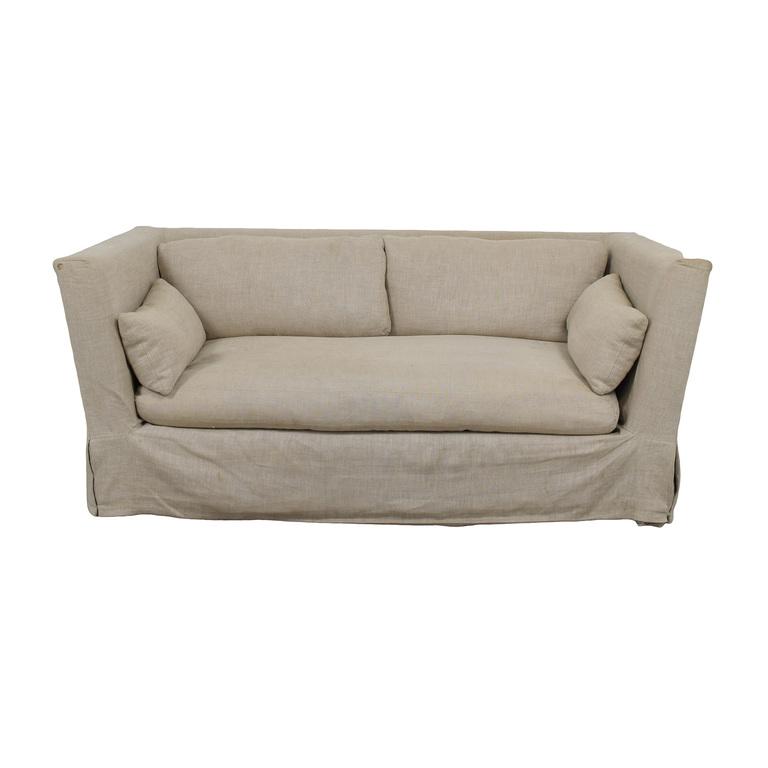 Restoration Hardware Restoration Hardware Grey Single Cushion Slipcover Sofa used