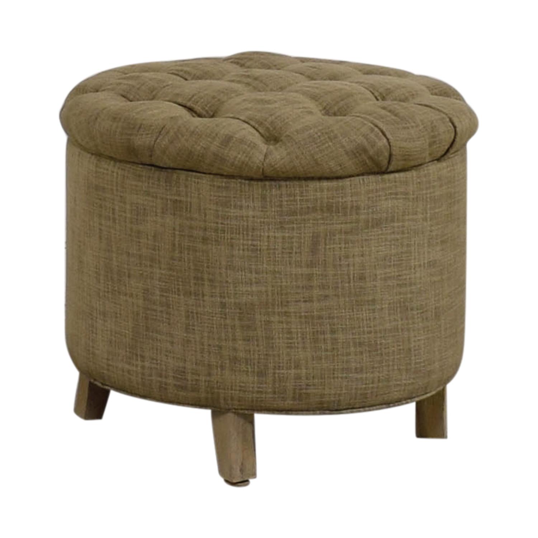73% OFF   Safavieh Safavieh Beige Tufted Upholstered Storage Ottoman /  Storage
