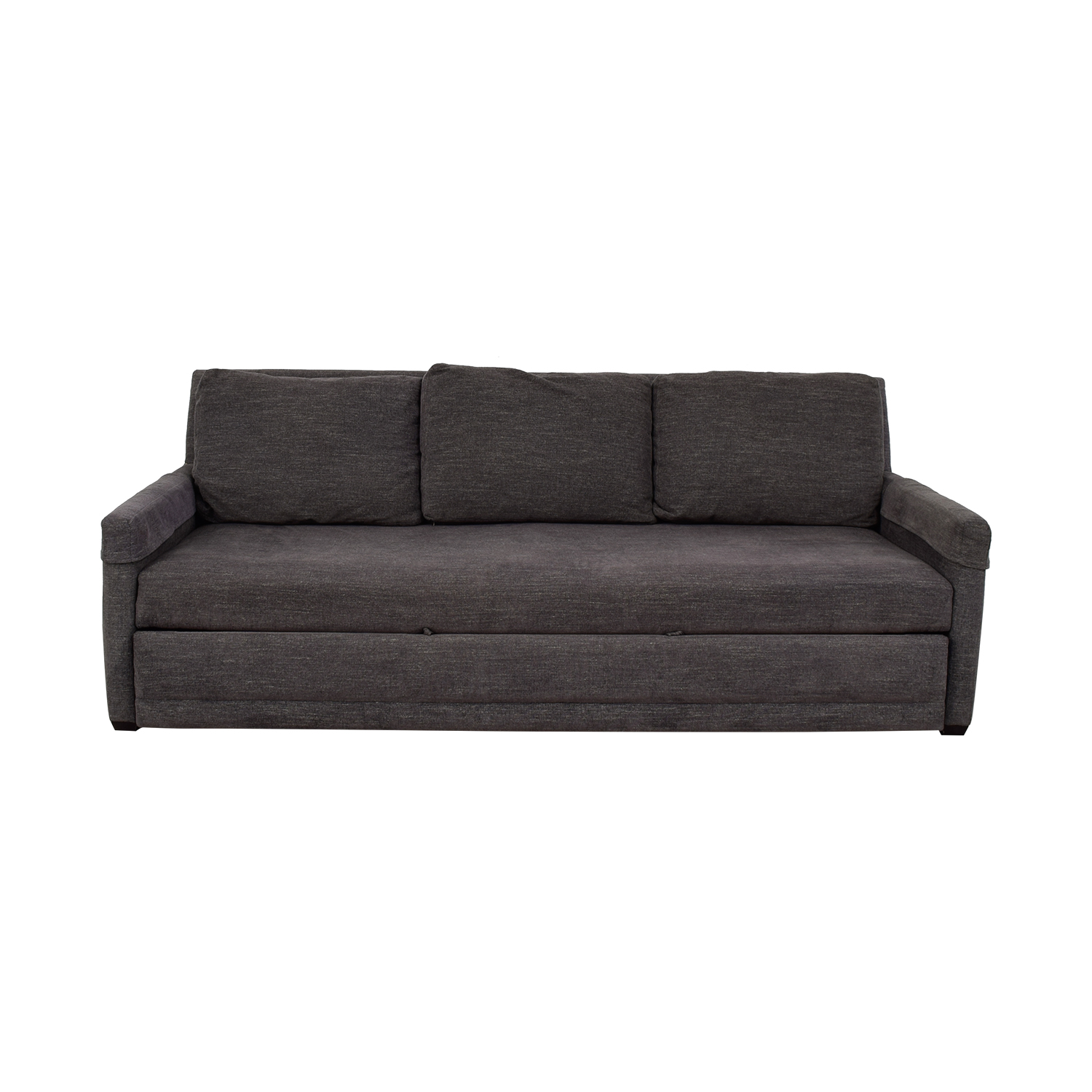 Crate & Barrel Reston Grey Queen Trundle Sleeper Sofabed sale