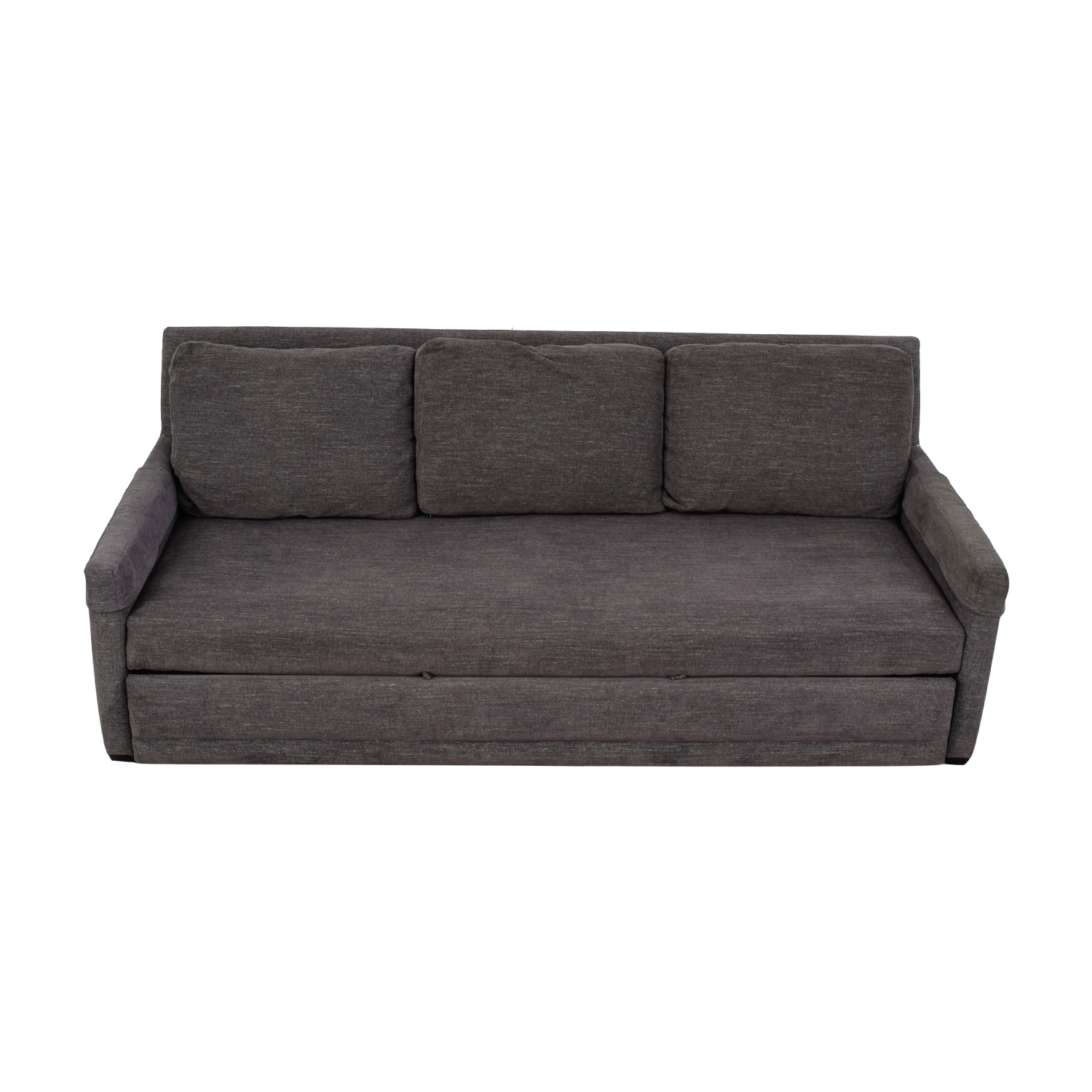 Crate & Barrel Reston Grey Queen Trundle Sleeper Sofabed Crate & Barrel