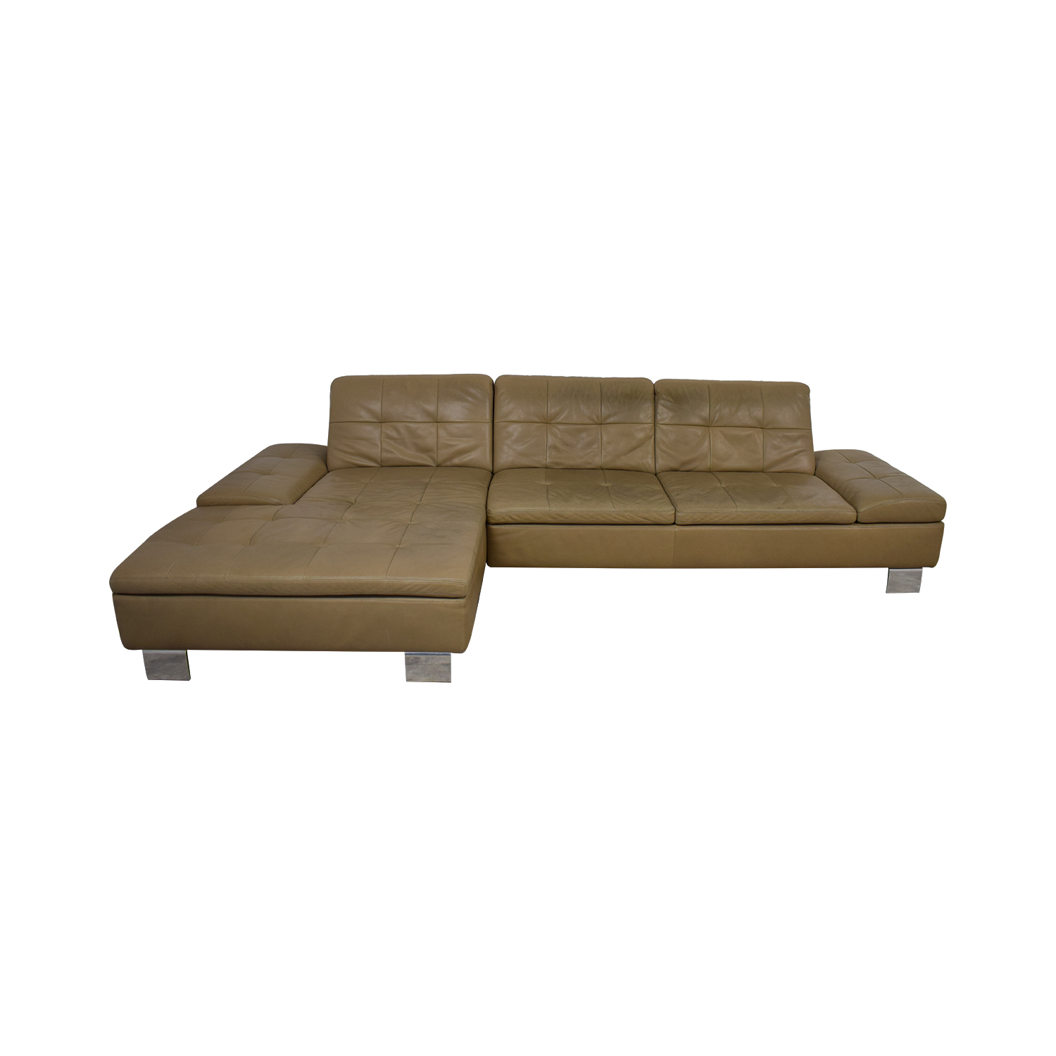 89% OFF - W. Schillig W. Schillig Contemporary Sectional Sofa in Natural  Leather / Sofas