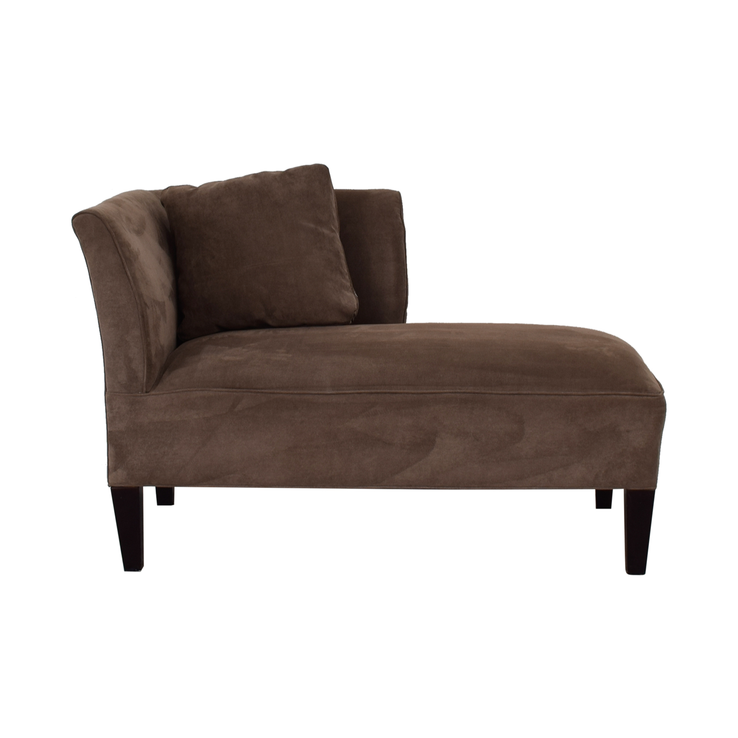 Broyhill Broyhill Brown Suede Chaise Lounge for sale