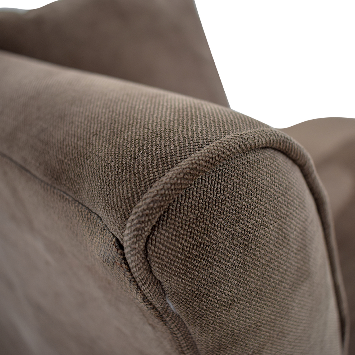 Broyhill Brown Suede Chaise Lounge / Sofas