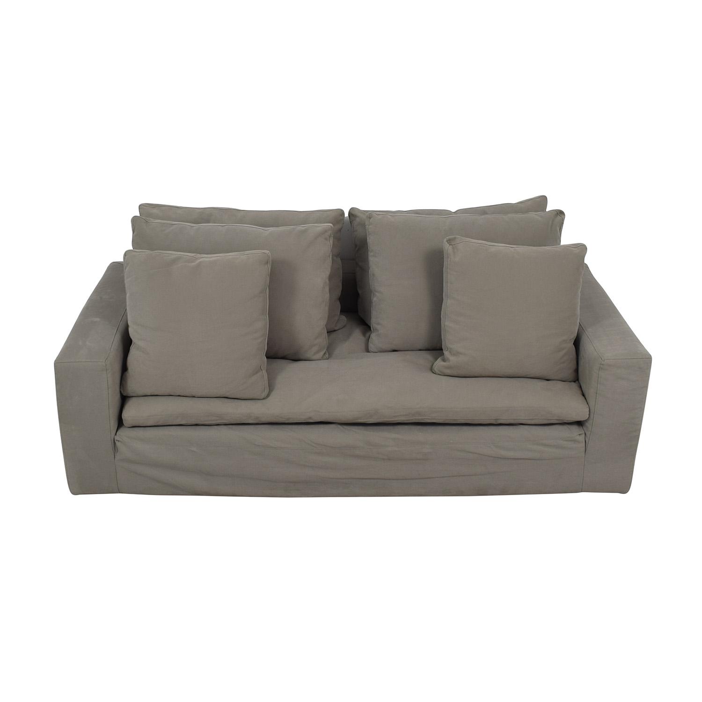 Restoration Hardware Restoration Hardware Grey Cloud Track Arm Single Cushion Sofa dimensions