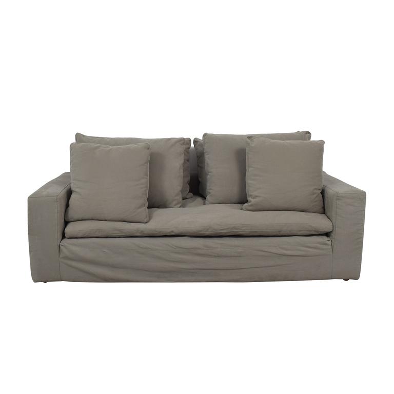 Restoration Hardware Restoration Hardware Grey Cloud Track Arm Single Cushion Sofa coupon