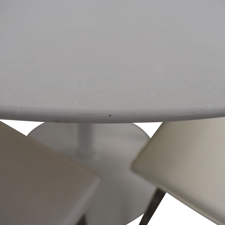 buy CB2 CB2 White Round Dining Set online