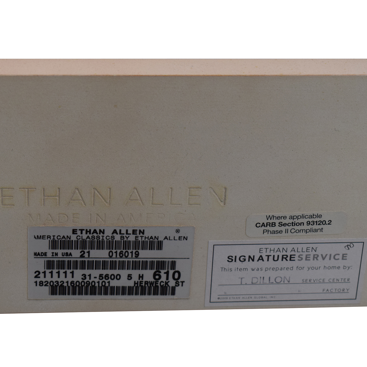 Ethan Allen Ethan Allen Quincy Off-White Queen Bed Frame used