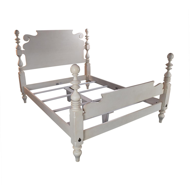Ethan Allen Ethan Allen Quincy Off-White Queen Bed Frame on sale