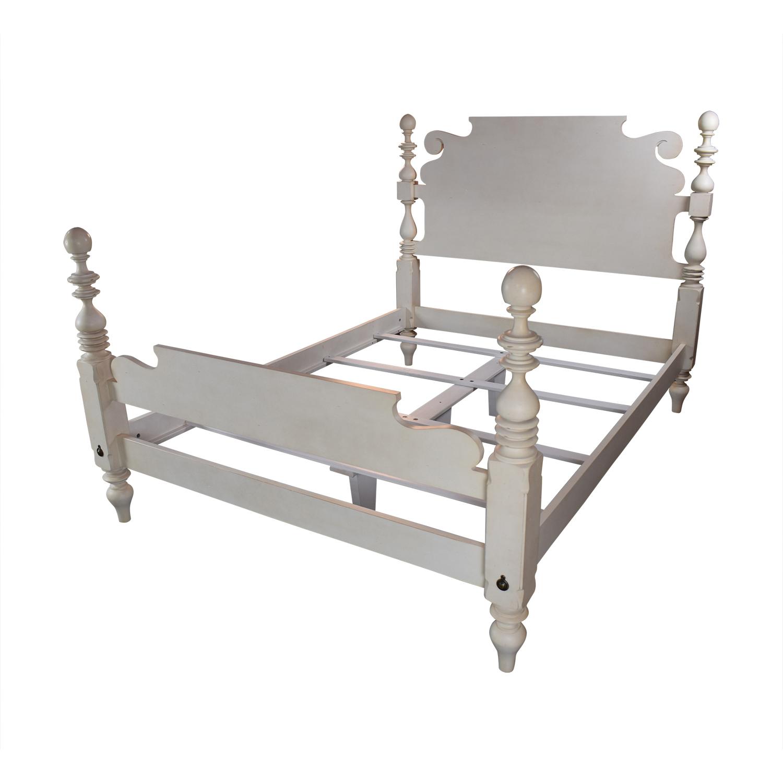 Ethan Allen Ethan Allen Quincy Off-White Queen Bed Frame Bed Frames