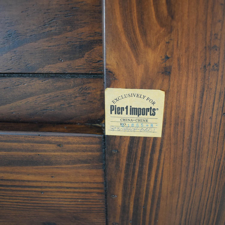 Pier 1 Queen Wood Headboard sale