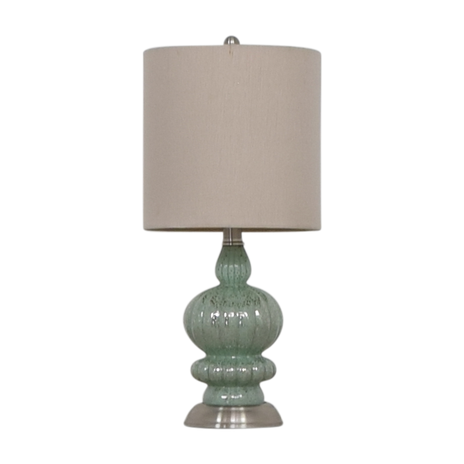 Seafoam and Silver Accent Lamp nyc