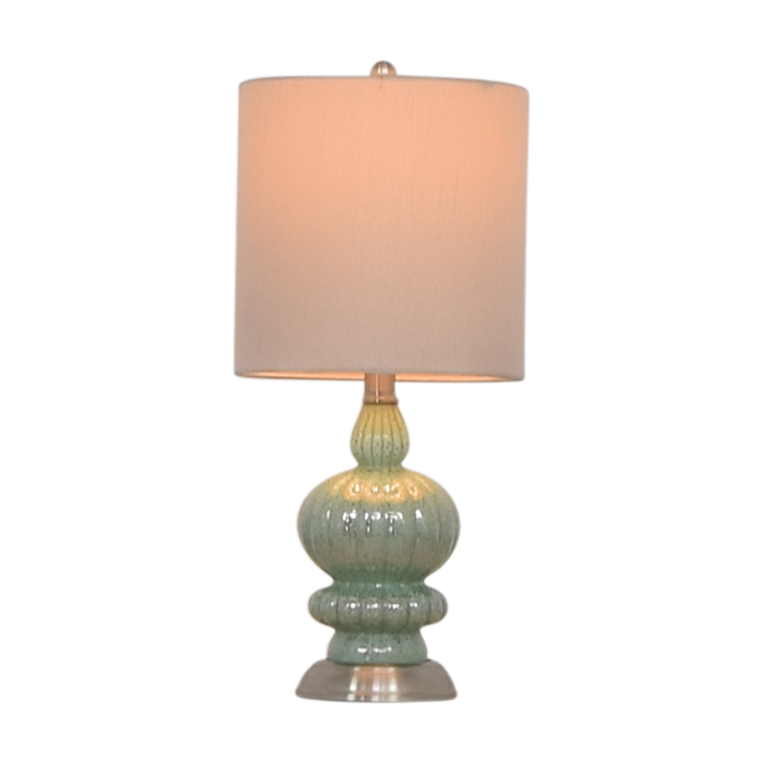 buy  Seafoam and Silver Accent Lamp online