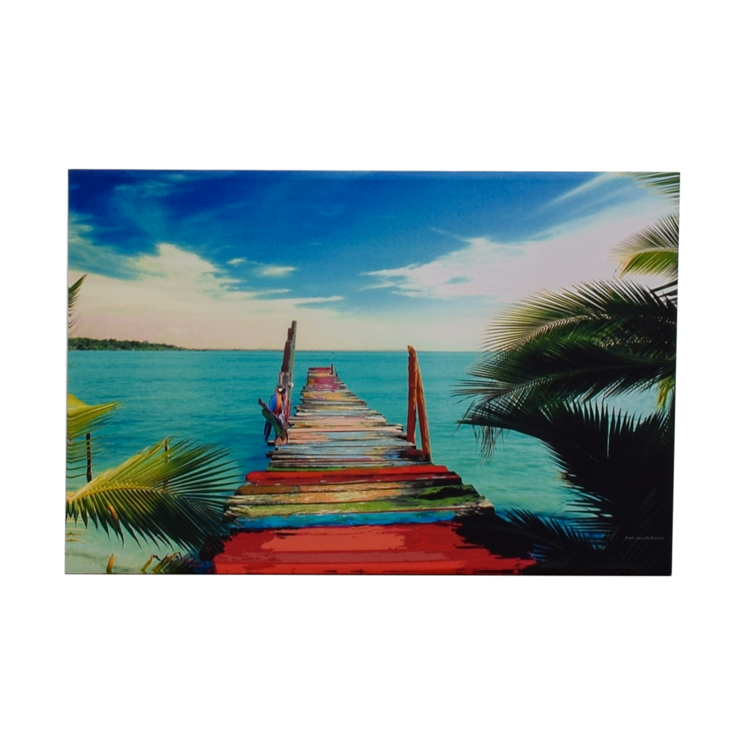 James Gary Richmond Key West Tropical Print on Canvas on sale