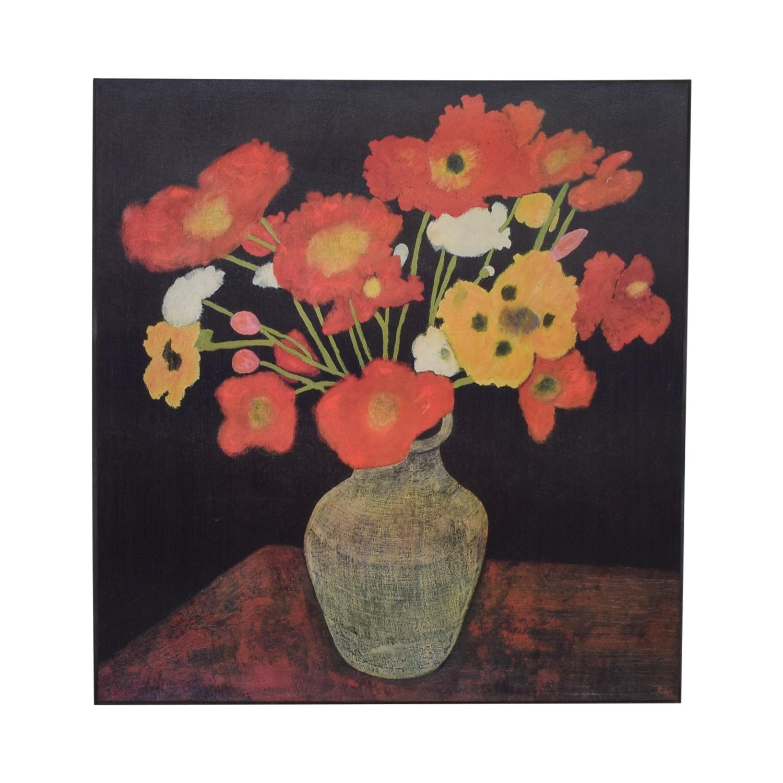 buy Crate & Barrel Crate & Barrel Jean Poppies Painting online