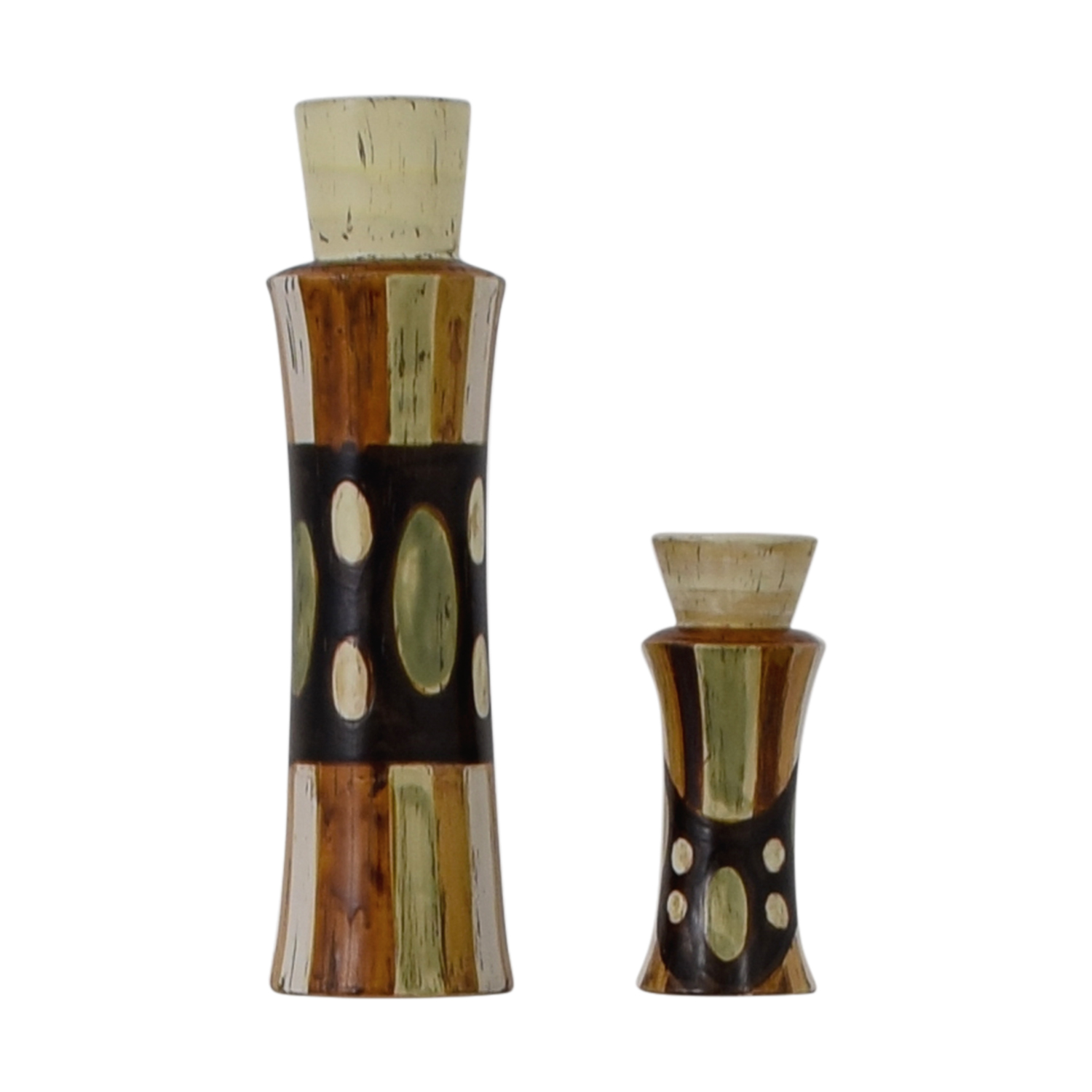 HomeGoods HomeGoods Ceramic Vase and Pillar Candle Holder