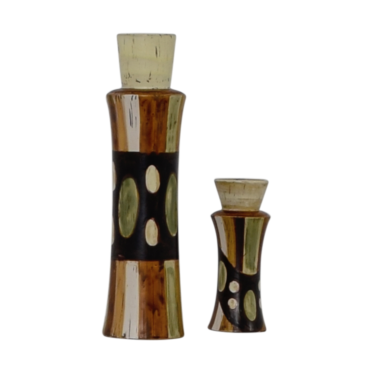 HomeGoods Ceramic Vase and Pillar Candle Holder / Decor