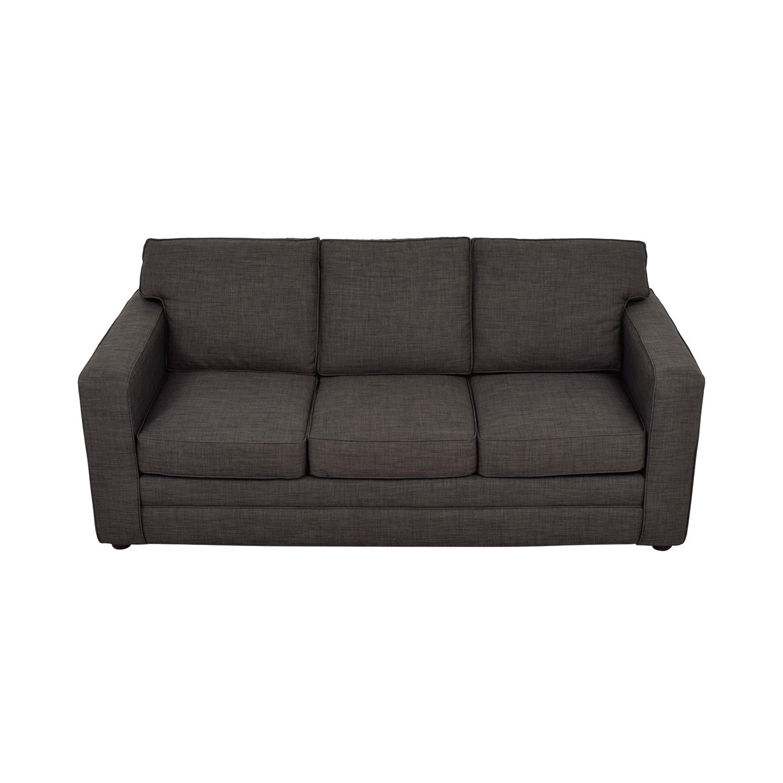 Jennifer Furniture Jennifer Furniture Charcoal Three-Cushion Sofa discount