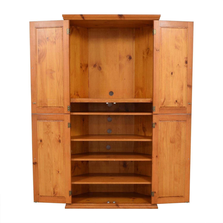 Gothic Cabinet & Craft Gothic Corner TV Pine Cabinet dimensions