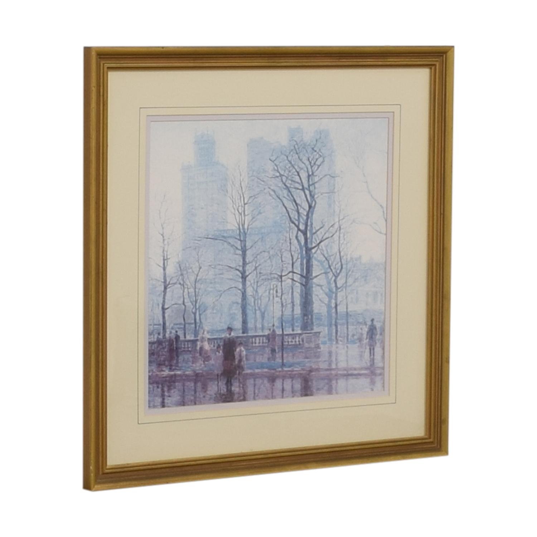 Balangier Framed Print of Central Park Winter Scene sale
