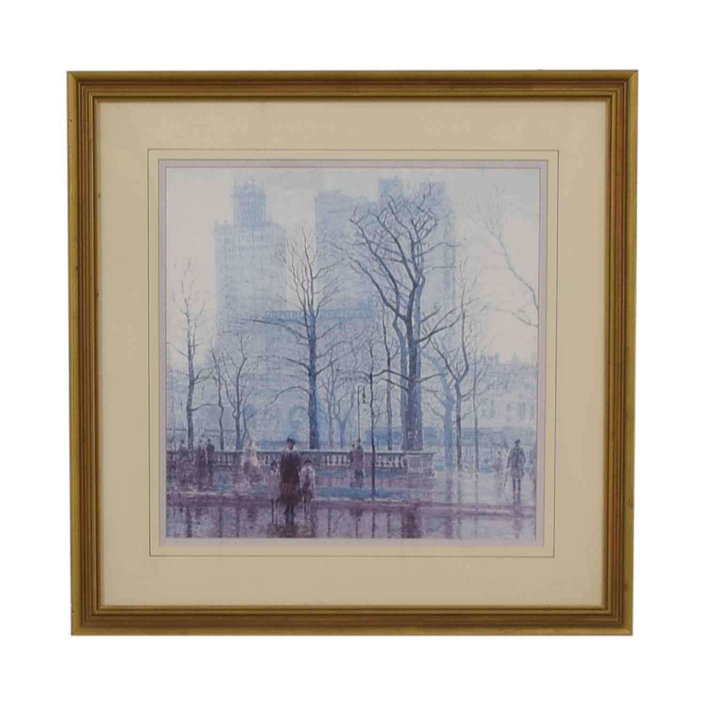shop Balangier Framed Print of Central Park Winter Scene Balangier
