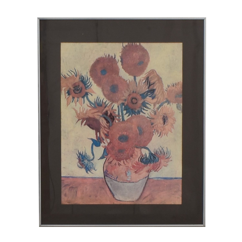 Van Gogh Sunflowers Framed Print second hand