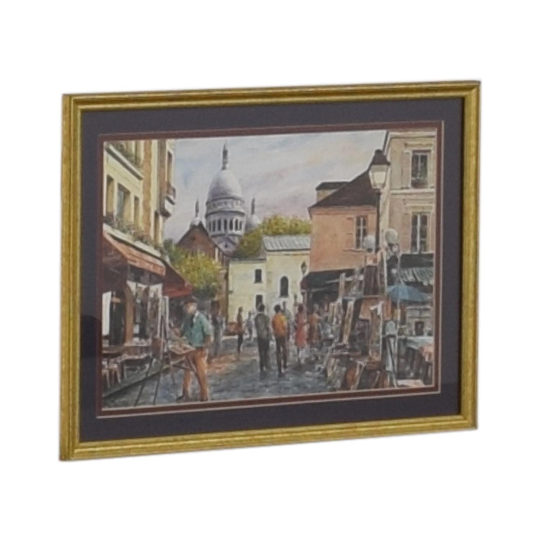 Framed Print of Montmarte Art Scene price