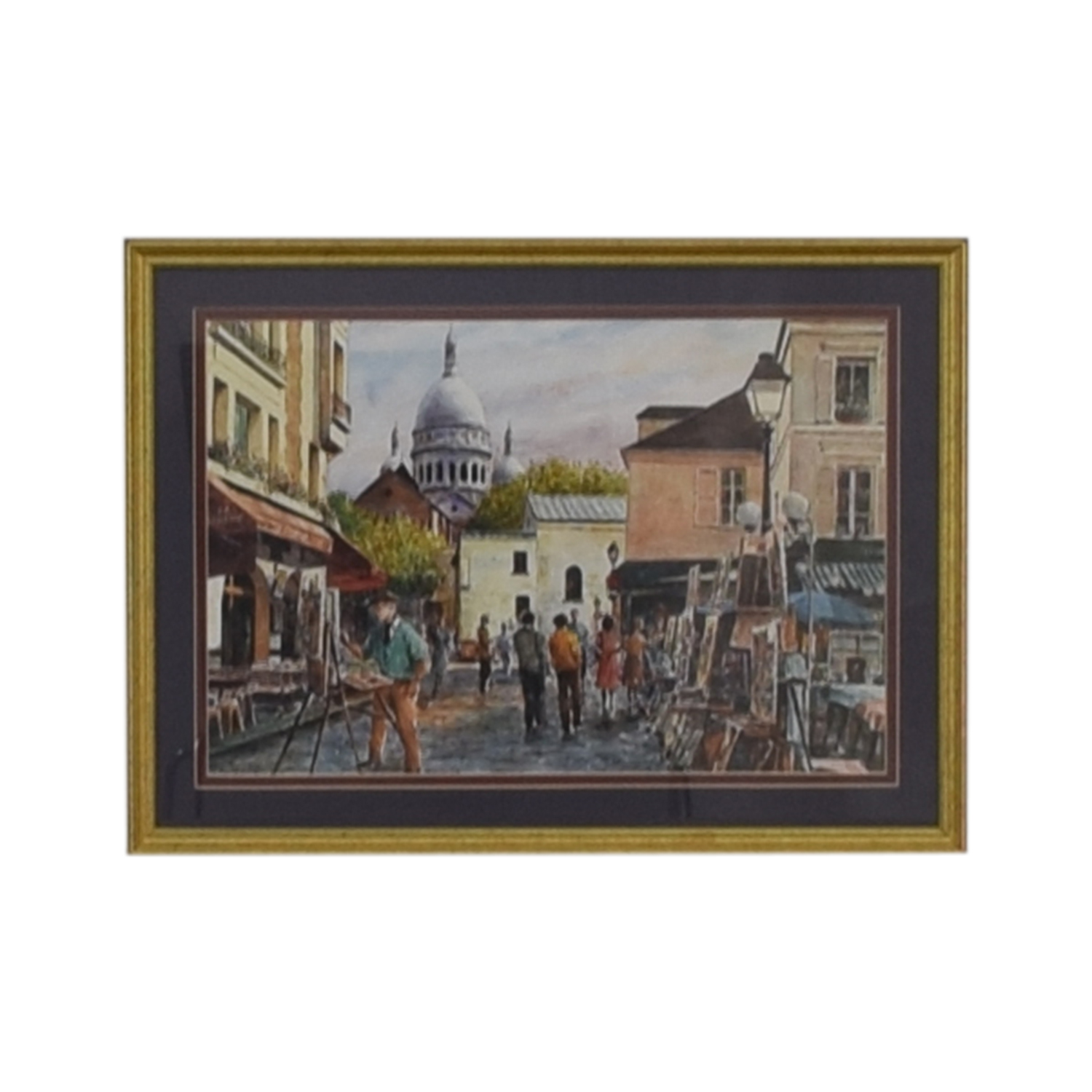Framed Print of Montmarte Art Scene on sale