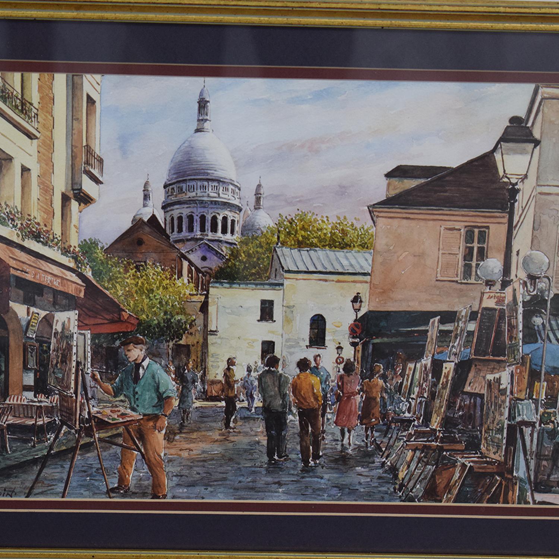 buy Framed Print of Montmarte Art Scene