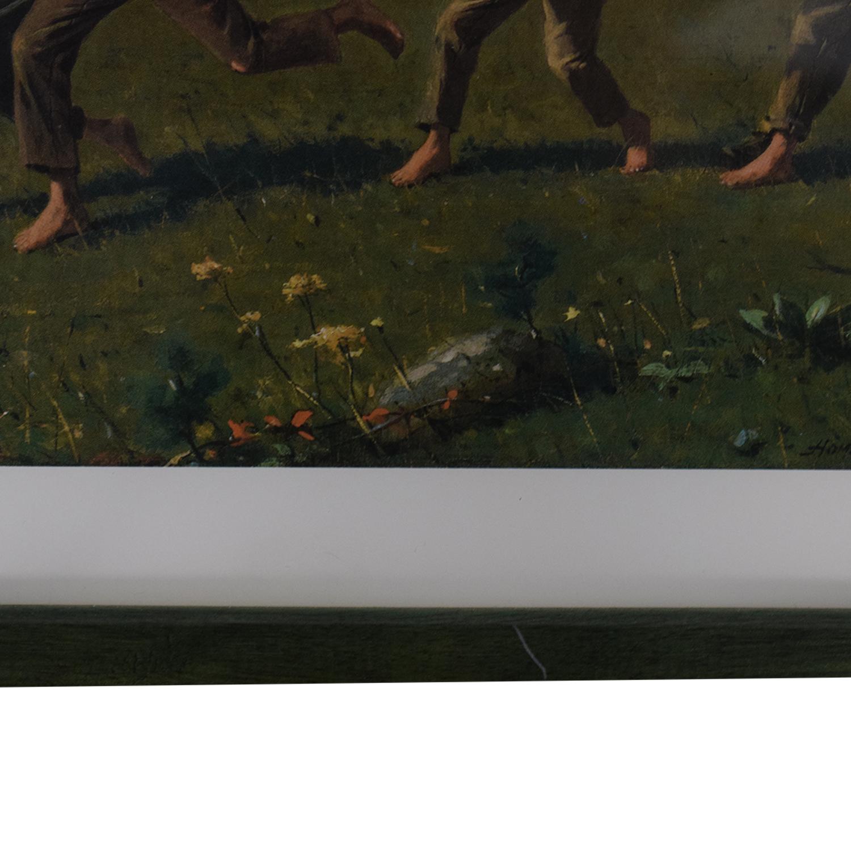 Framed Rustic Scene Print Decor