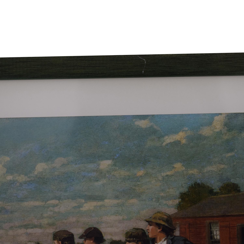 Framed Rustic Scene Print / Decor
