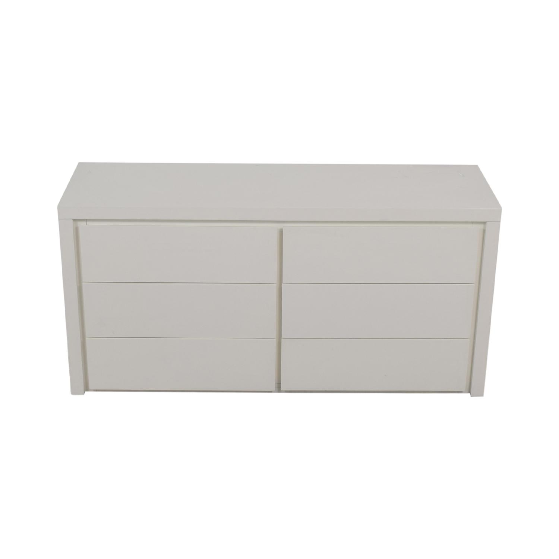 Modani Dino White Six-Drawer Dresser / Storage