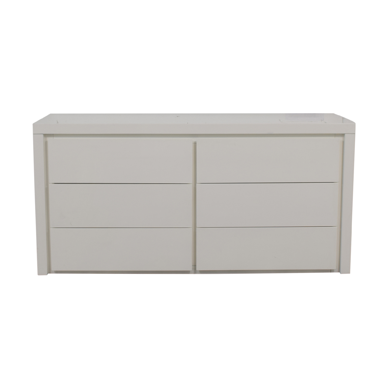 Modani Dino White Six-Drawer Dresser Modani