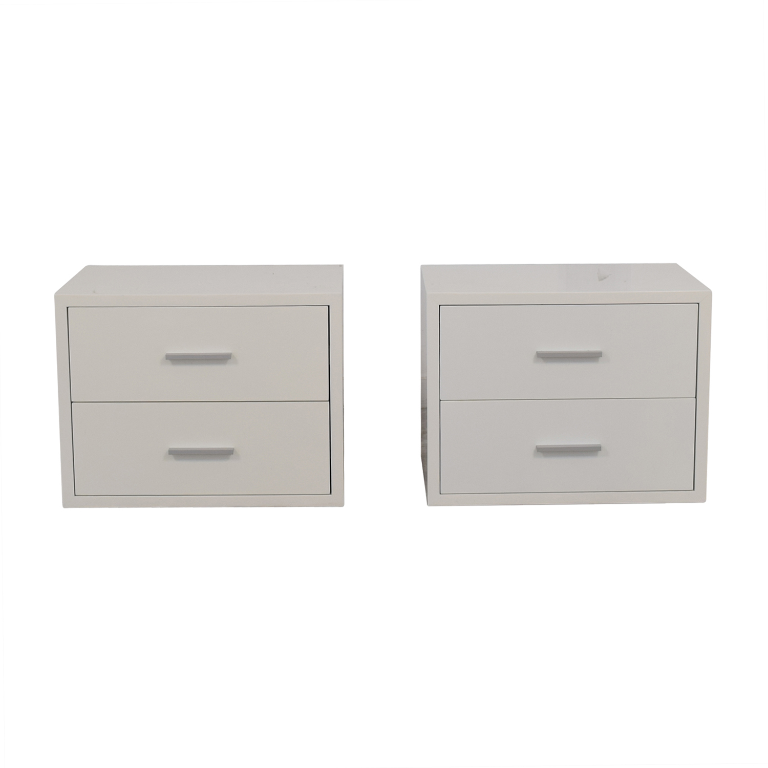 Modani Modani Vito White Two-Drawer Night Stands nj