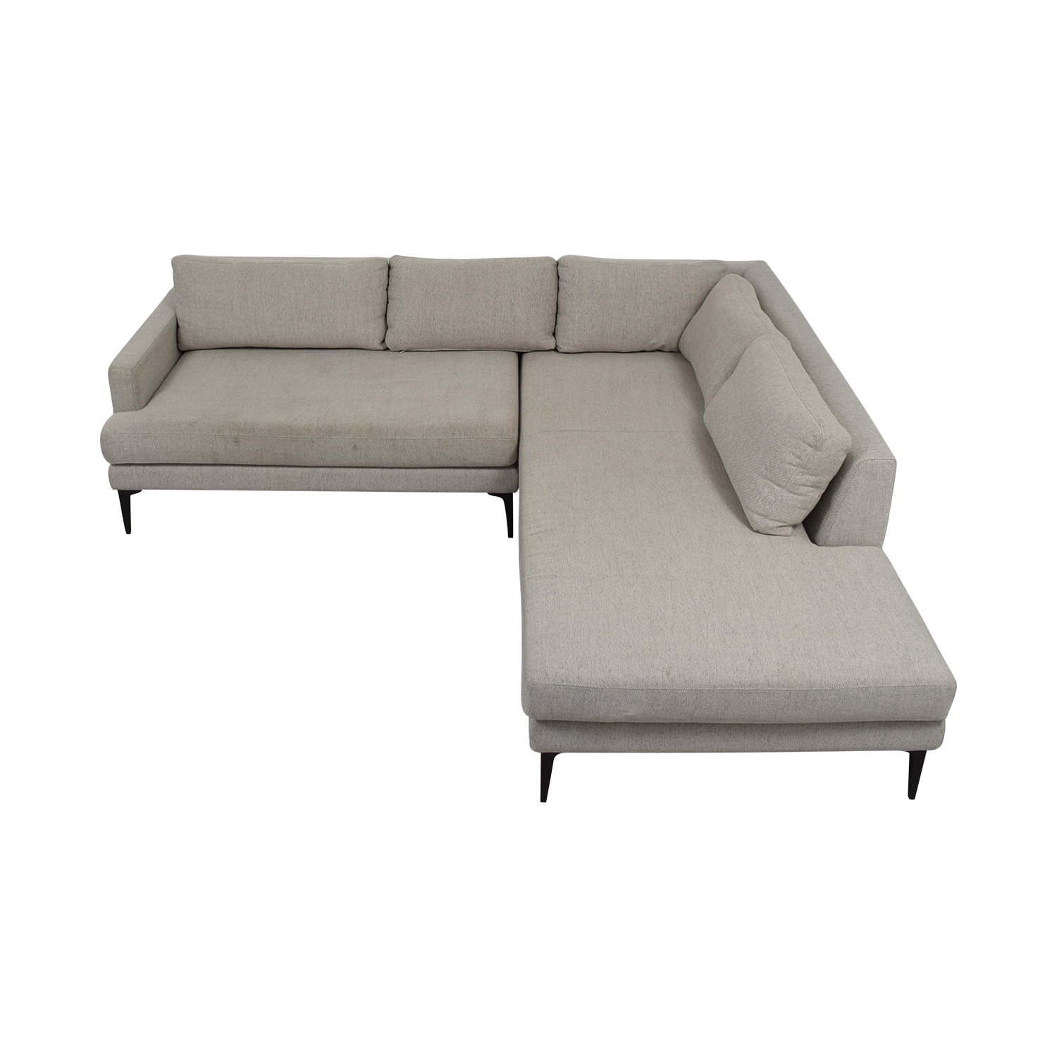West Elm West Elm Andre Gray Left Chaise Sectional for sale