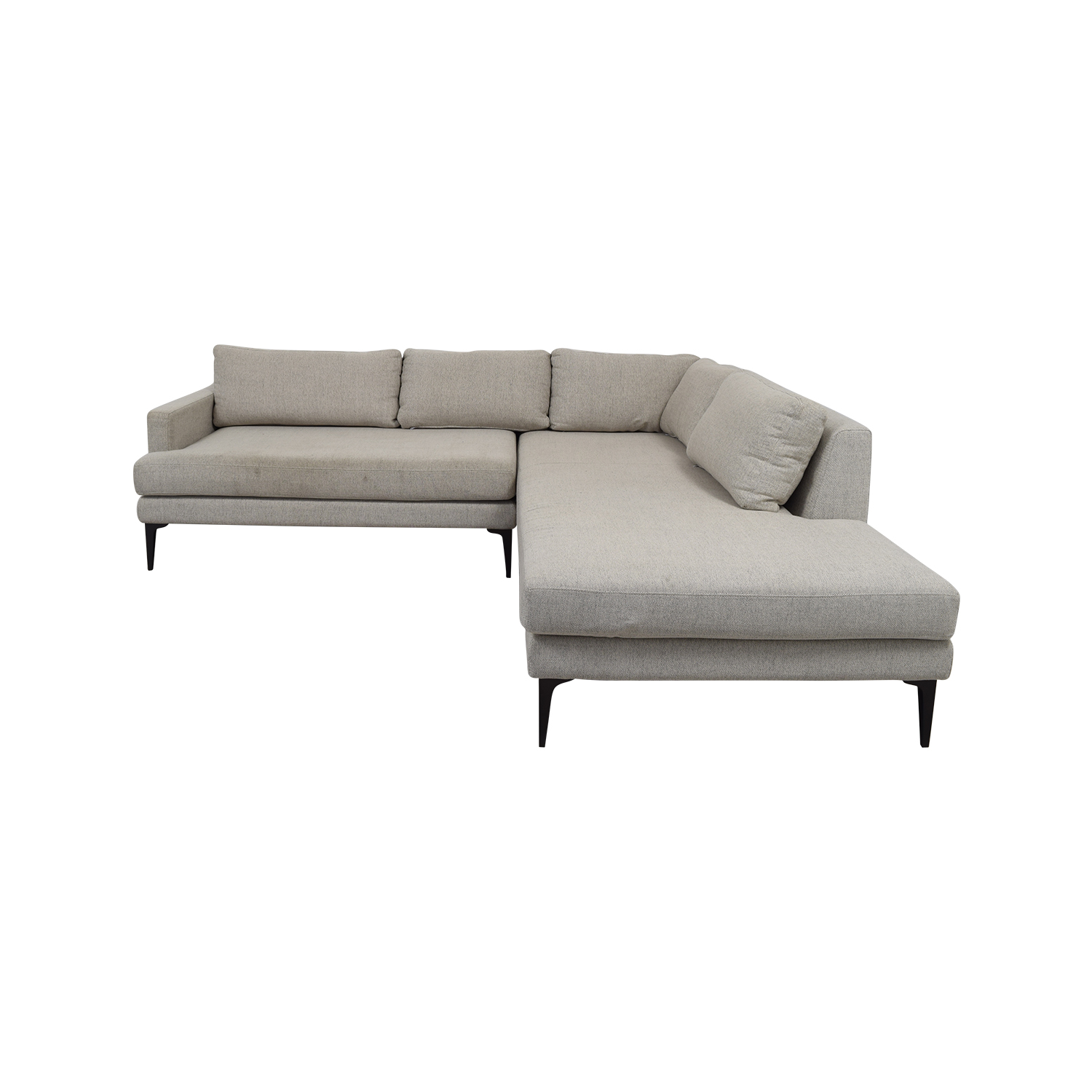 Sensational 56 Off West Elm West Elm Andes Terminal Gray Left Chaise Sectional Sofas Alphanode Cool Chair Designs And Ideas Alphanodeonline