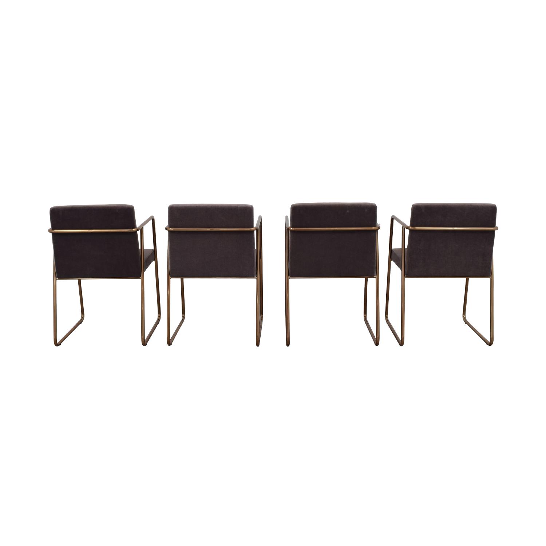 CB2 CB2 Gray Velvet Dining Chairs