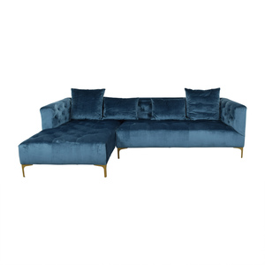 buy  Ms. Chesterfield Sapphire Tufted Left Chaise Sectional online