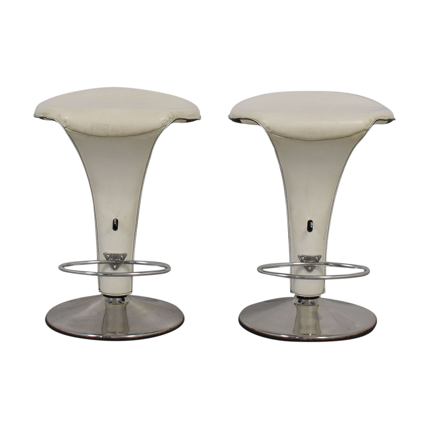 Cattelan Italia Cattelan Italia White and Chrome Boss Stools second hand