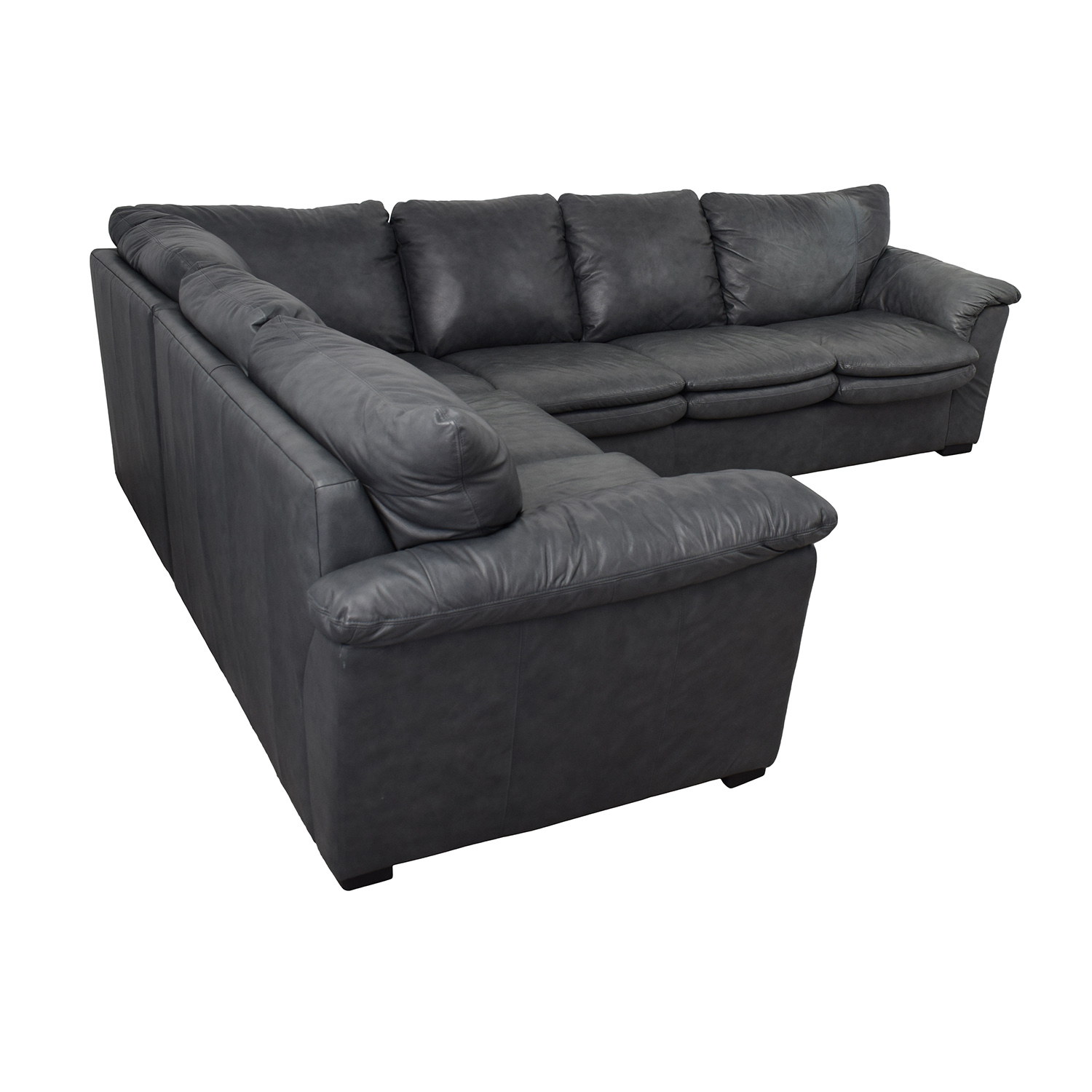 Outstanding 90 Off Jaymar Jaymar Furniture Charcoal Leather L Shaped Sectional Sofas Dailytribune Chair Design For Home Dailytribuneorg