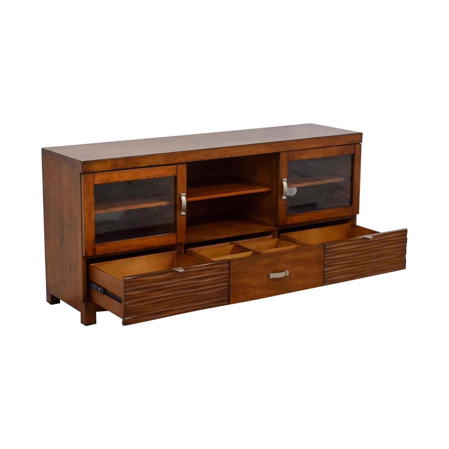 68 Off Bob S Furniture Bob S Furniture Tv Stand With Storage