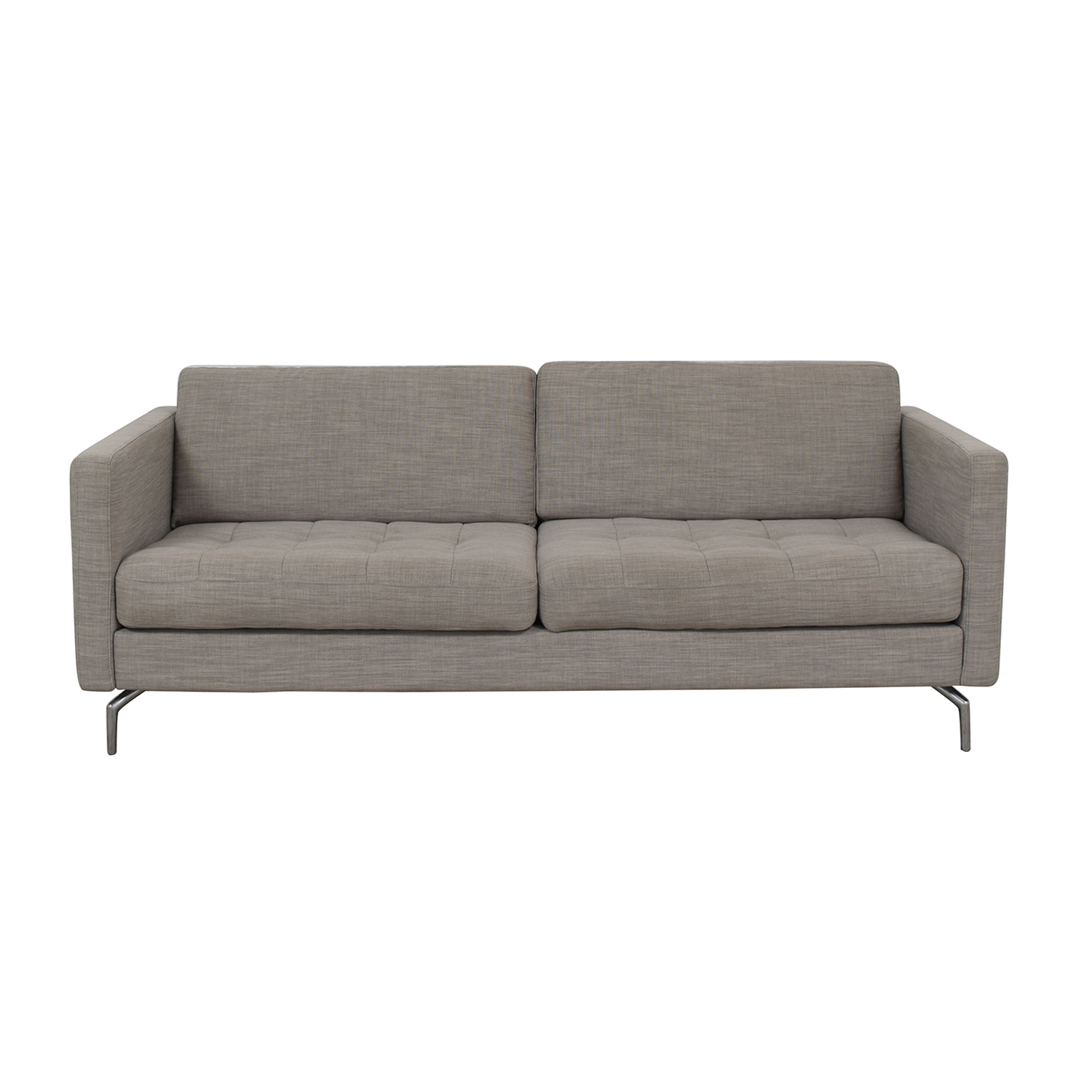 shop BoConcept BoConcept Osaka Grey Tufted Two-Cushion Sofa online