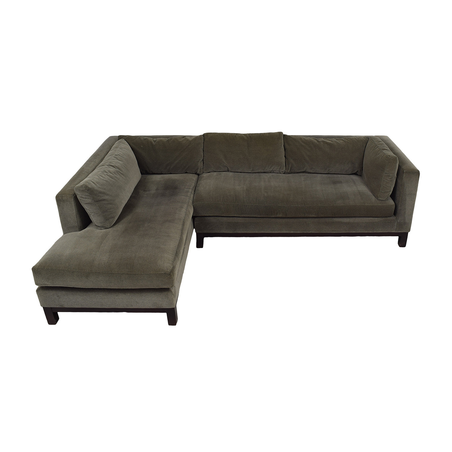 buy Crate & Barrel Brown L-Shaped Sectional Crate & Barrel Sectionals