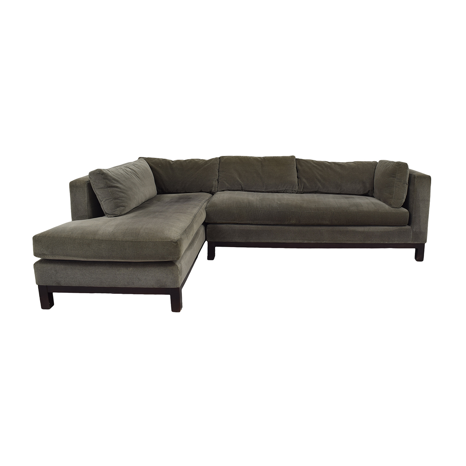 Crate & Barrel Crate & Barrel Brown L-Shaped Sectional brown