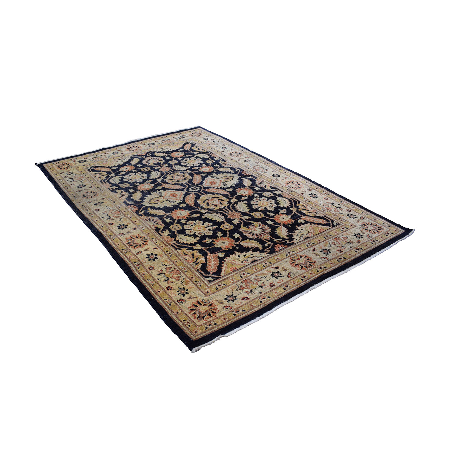 buy Navy Beige and Gold Rug
